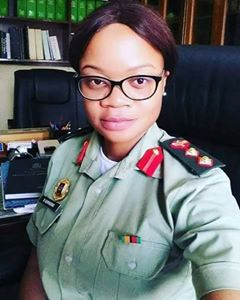 Meet the new Director of Army Legal Services in the Zambia Army, Lieutenant Colonel Mwizukanji Namwawa A.K.A KANJI song writer
