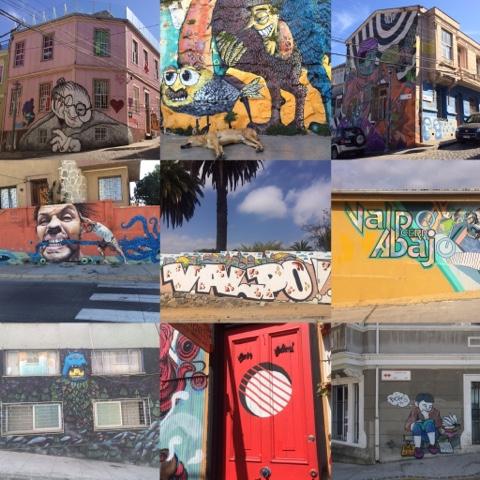 Valparaiso, Chile street arts/murals