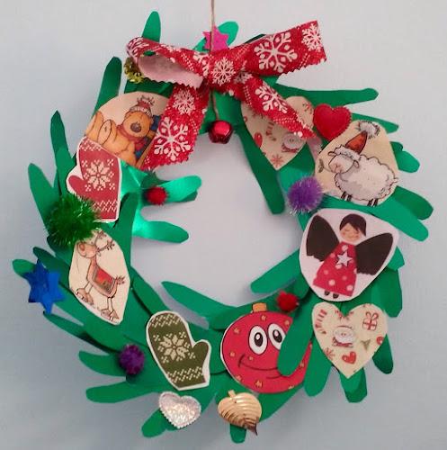 Corona infantil de Navidad