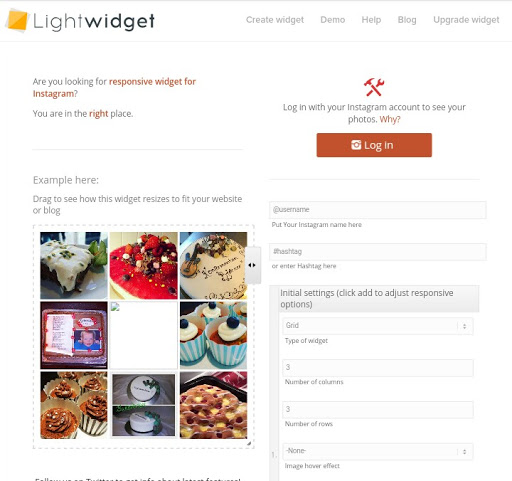 lightwidget Instagram feed