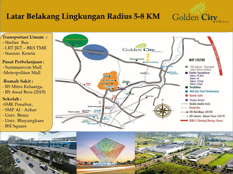 Peta Lokasi Golden City Bekasi