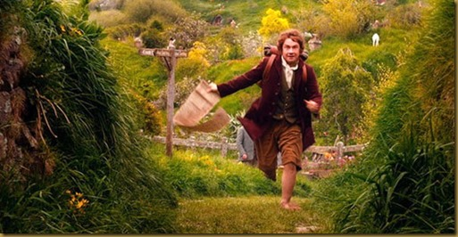 Bilbo leaving the Shire