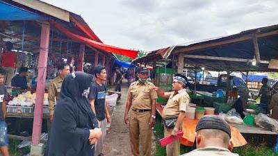 Camat Salo Amir Ludfi Kunjungi Pasar Desa Siabu, Guna Memantau Penerapan Prokes Dan Fasilitas Pasar