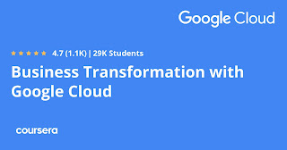 Best business transformation course from Google Coursera
