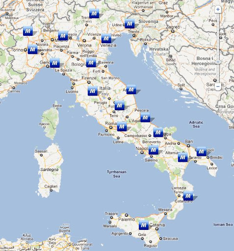 Włochy stacje CNG