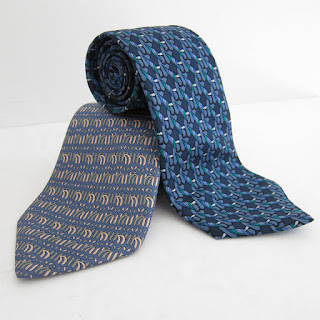 Hermès Silk Tie Blue Duo