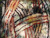 exode i / huile toile / 50x60 / 1998