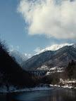 厳冬期の高瀬ダム