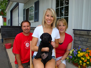 "Here's ""Gus""...heading home to Red Wing, MN with his new family."