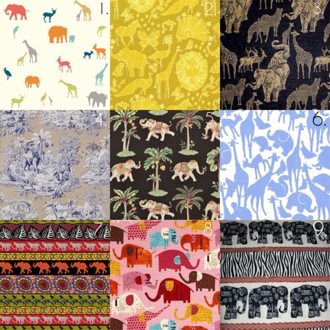 Embellished Elephant :: Fabric print elephant selection