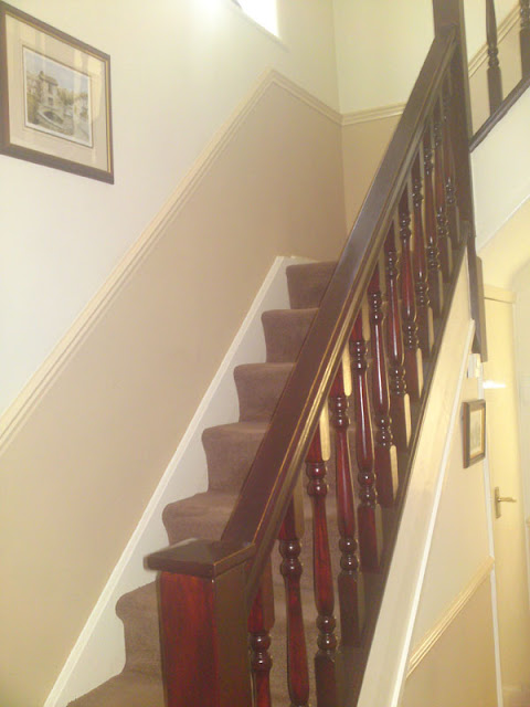 Hall landing and stairs re-decoration, including re-staining of spindles and handrail(s)