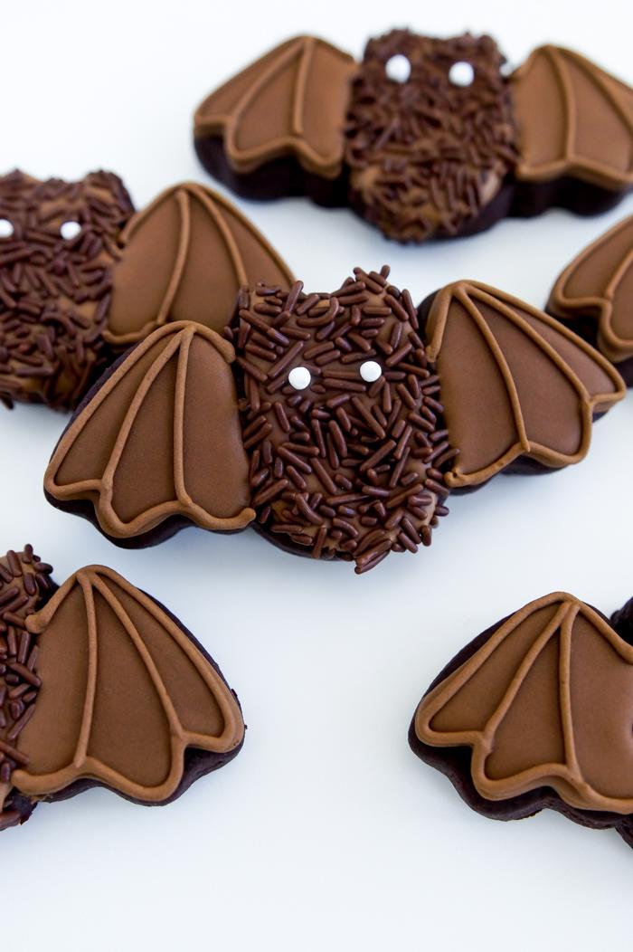 cutest hairy bat cookies