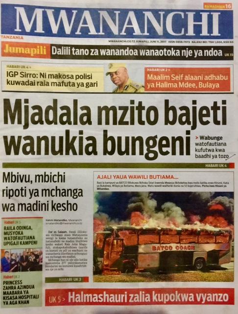 Habari Zilizopo Katika Magazeti ya Leo Jumapili ya June 11