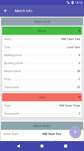 Herts League Results Reporting- screenshot thumbnail