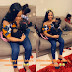 Davido's Daughter, Imade Snapped Kissing Her Step Mum