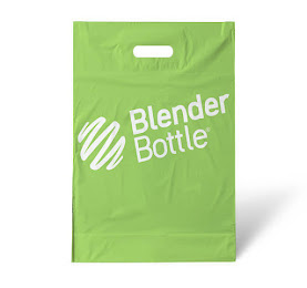 Green custom printed plastic shopping bag