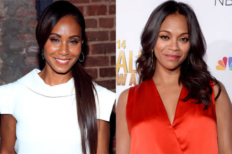 Compartiendo avatar, la Sra. Smith y Zoe Saldana