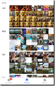 Google Photos will store your entire library, many thousands of photos, for free!