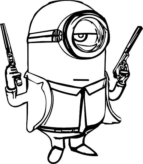Gun Coloring Pages With Minion Gun Coloring Page