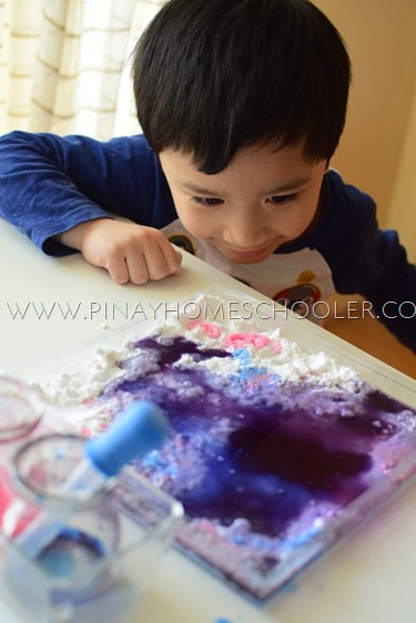 Color Mixing Experiment with Baking Soda