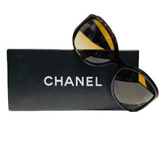 Chanel Tortoiseshell 'CC' Sunglasses