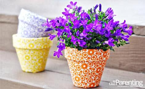 Vaso decorado com tecido