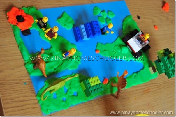 Learning Land and Water Forms Using Maps and Playdough