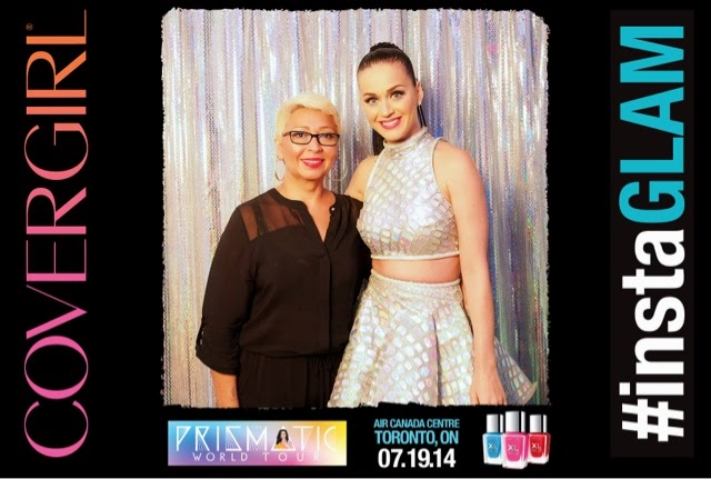 backstage with Katy Perry, covergirl, instaglam