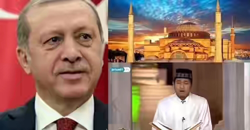 Salut! Erdogan Undang Putra Aceh Baca Alquran di Hagia Sophia