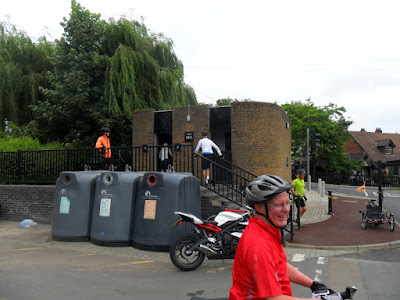 cyclists entering public toilets