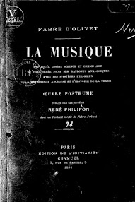 Cover of Fabre d'Olivet's Book La Musique (1896,in French)
