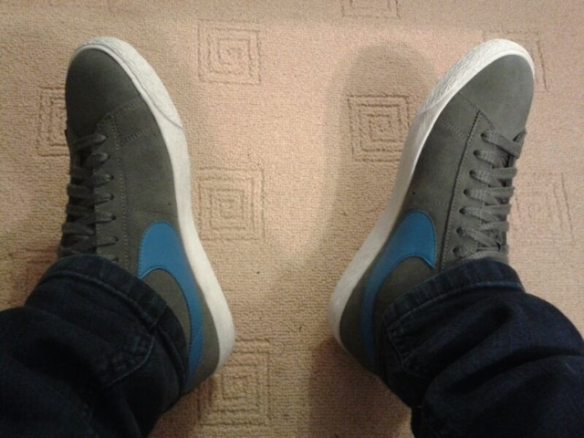 Grey / blue Nike Blazers