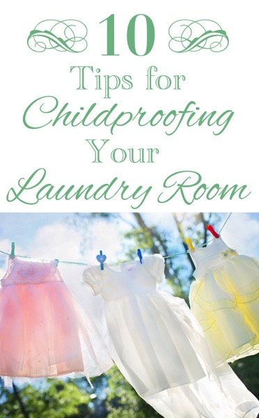Childproofing laundry room tips
