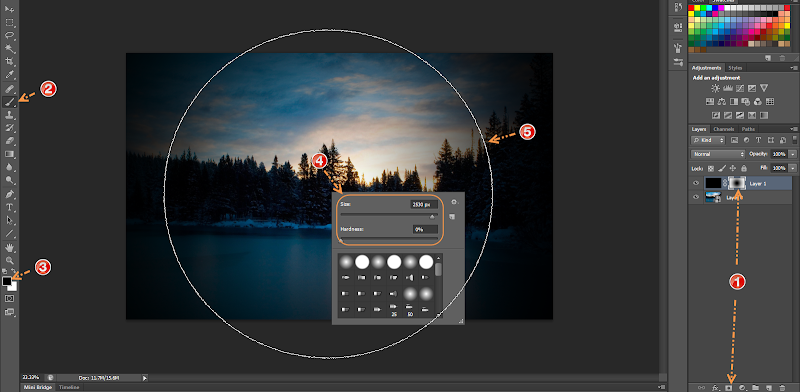 Photoshop - 3 เทคนิคง่ายๆ ในการปรับแต่งภาพแนว Vignette Effect ด้วย Photoshop Vignette09