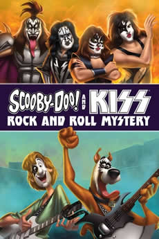 Capa Scooby-Doo e Kiss em Mistérios do Rock 'n' Roll Torrent