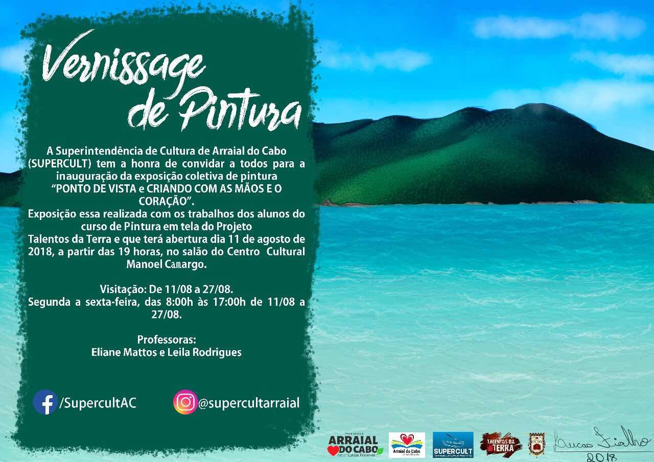 Arraial do Cabo inaugura exposição coletiva neste sábado (11)