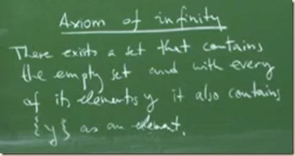 physics set theory axiom infinity