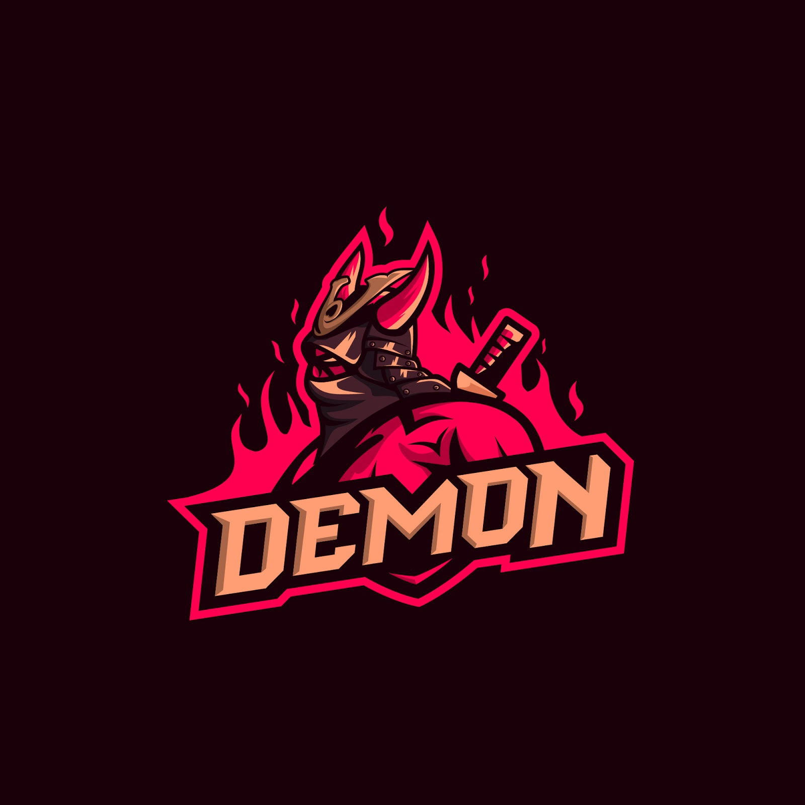 Samurai Demon Premium Logo Free Download Vector CDR, AI, EPS and PNG Formats
