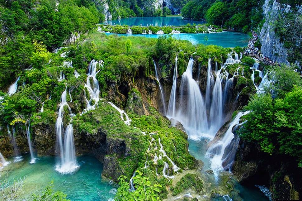 Водопад на Плитвицких озерах, Хорватия, Красивые водопады планеты