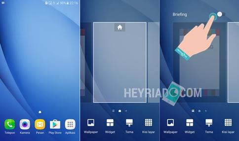 dan seri lainnya sanggup dilakukan dengan praktis Cara Menonaktifkan Briefing Samsung