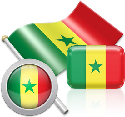 Senegalese flag icons pictures collection