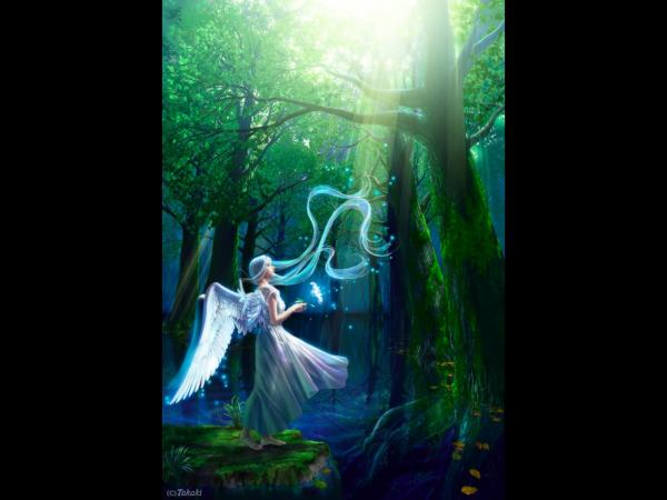Angel In A Mystical Forest, Angels 3