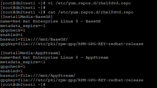 Updated rhel8dvd.repo file output