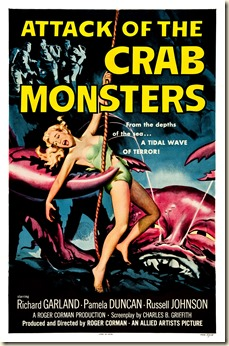 ATTACK OF THE CRAB MONSTERS poster by Albert Kallis