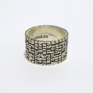 Sterling Silver Nove25 New Lyrics Ring