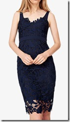 Damsel in a Dress Boned Lace Midi Dress