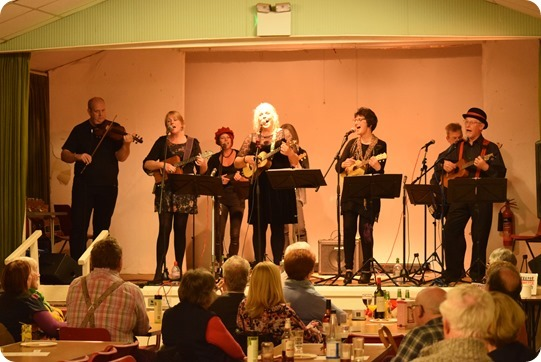 The Ukey Monster perform at A Gala Autumn Concert in  Wistaston