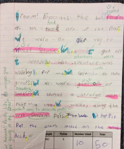 Room 15 Douglas Park School: Libby is using adjectives to