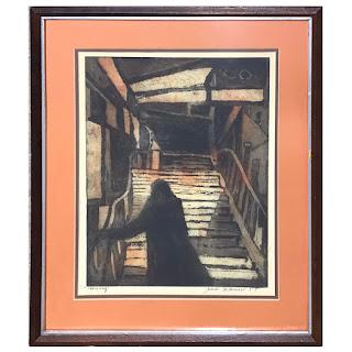 Jack Bilander Signed 'Stairway' Etching