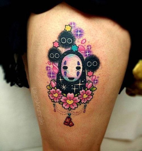 este_encantador_susuwatari_kawaii_tatuagem